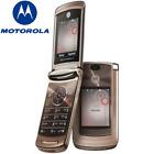 Original Motorola RAZR2 V9 Unlocked 2MP Camera Phone 3G Flip Cellphone Rose Gold