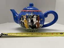 New listing Catzilla Teapot Cats Moon & Stars by Candace Reiter 2001