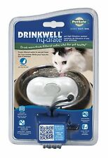 PetSafe Drinkwell Hy-Drate Cat Water Filtration System, Ice White