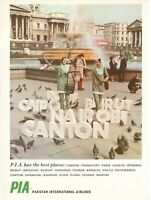 1969 Original Advertising' Advertising Pia ~ Pakistan International Airlines