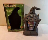 Gemmy Head-Lights Halloween Lantern - Sound & Motion Activated - RARE HOF w/ BOX
