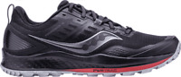Men's Saucony Peregrine 10 Trail Running Shoe Black/Red Trail Specific Mesh Size