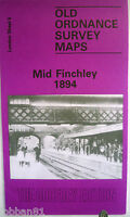 OLD ORDNANCE SURVEY MAP MID FINCHLEY LONDON 1894 Sheet 5 New