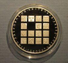 2004 Czech Republic 200 Korun Silver Proof Coin Joining The Eu Czechoslovakia Pp