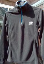 Karrimor Boys Half Zip Black Micro Fleece - Winter Long Sleeve Top - Age 7-8