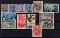 P136345/ ITALIAN LYBIA / LOT 1912 – 1941 MINT MNH CV 220 $