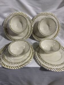 12pc Melamine Dinnerware Set