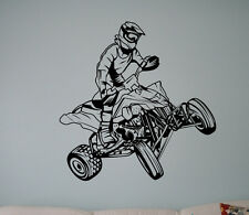 Quad Bike Vinyl Decal Motorcycle Vinyl Stickers Home Interior Garage Decor 16