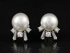 Wunderschöne Brillant Diamant Ohrstecker mit Südsee Perle ca. 1,12ct