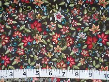 Marcus Brothers Floral Bright Color Cotton Fabric Sewing,Craft,Quilt, BTY