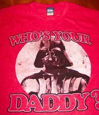 VINTAGE Star Wars DARTH VADER Who's Your Daddy T-Shirt MEDIUM NEW