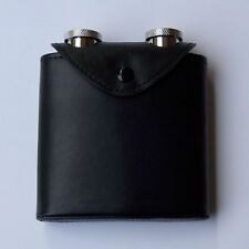 Flachmann Duo, 2 Hip Flasks in a Leather Case with Belt Fastening
