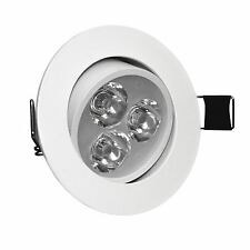 LED Ceiling Downlights Angle Adjustment Recessed Spotlights 3W Cool White