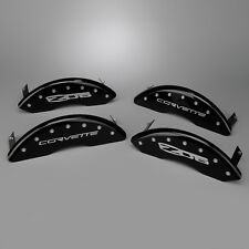 New Brake Caliper Cover Set -Gloss Black w Script (2006-2013 C6 Corvette Z06 GS)