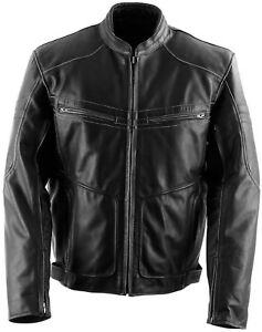 NOS BLACK BRAND BB3155 CUTTHROAT LEATHER JACKET BROWN SIZE MENS XL