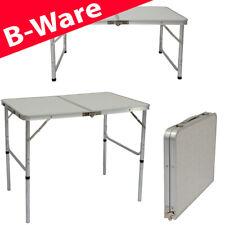 B-Ware Campingtisch aus Aluminium   Höhenverstellbarer Klapptisch 90x60cm