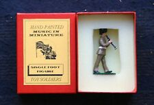 MUSIC IN MINIATURES,  BRITISH ARMY MUSICALBAND, PAINTED MEATAL ALLOY 54MM SCALE