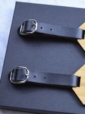 2 pcs Mini Faux Leather Strap For Wooden Luggage Tag