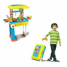 Pretend Kitchen Toy Chef 2 In 1 Pretend Play Travel Set Boys and Girls Set