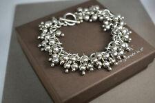 SILPADA Cha Cha .925 Sterling Silver Ball Bead Toggle Clasp Bracelet B0919 SHINY