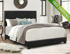 Platform Bed Frame With Headboard King Size Upholstered Beds Wood Frames Black
