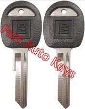 """2 (Pair) NEW GM Logo OEM Door Trunk """"H"""" Key Blank Uncut 595198 B45P B45-P"""