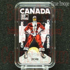 SIGNED CERTIFICATE! COA<120 2018 Captain Canuck 1 oz $20 Pure Silver Coin Canada