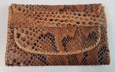 Vintage Snakeskin Bi Fold Wallet