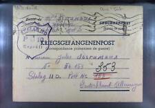 Camp Stalag IID Stargard 1940 POW Prisoner of War Kriegsgefangenenpost L10a