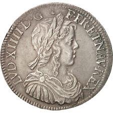 [#450281] France, Louis XIV, 1/2 Écu à la mèche longue, 1/2 Ecu, 1751