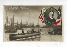 1916 Germany Postcard U Boat Submarine Deutschland in Port Feldpost Cover