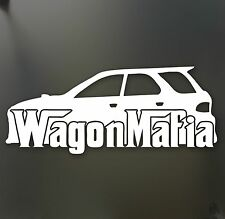 Wagon Mafia lowered sticker Subaru WRX STI Legacy low stance car window decal