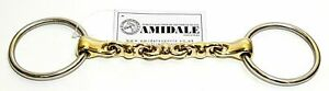 AMIDALE LOOSE RING WATERFORD SNAFFLE HORSE BIT 16mm BNWT