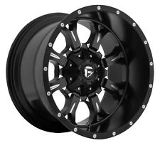 20x10 Fuel Krank D517 8x170 et-24 Black Milled Wheels Rims (Set of 4)