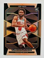 2019-20 Panini Obsidian Coby White RC, ORANGE ETCH SP #/12/50! Bulls Rookie!