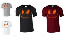 Jack Smiley Scary Pumpkin Halloween T-shirt Spooky Costume Fancy (SMILEY,TSHIRT)