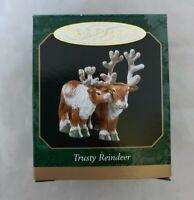 1999 Hallmark Keepsake Noah's ark Trusty Reindeer Ornament Miniature