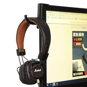 1pc Earphone Holder Headphone Headset Hanger Holder Hook W/ Tape Sticker For Des