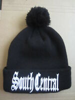 South Central LA Los Angeles California Black Beanie Stocking Hat Cap Gangster