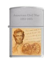 Zippo 200 Civil War 1861-1865 Abraham Lincoln Full Size Lighter