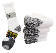 4 PAIR CREW PREMIUM HEAVY SOCKS COTTON LONG THICK WHITE WORK BOOTS SOCKS