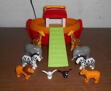 lot figurine playmobil 1 er age bateau arche de noé animaux sauvage