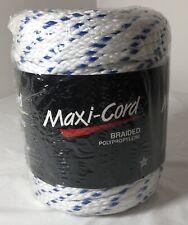 Maxi-Cord Blue & White Braided Polypropylene, 6mm 100 Yds - Macrame/Crafts Usa