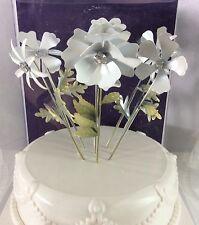 White Flowers Picks Wedding Cake Topper by Wilton