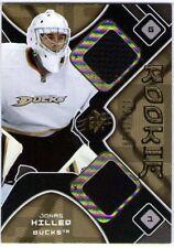 JONAS HILLER 2007-08 UD SPX Rookie Dual Jersey Swatch Card 07/08 DUCKS