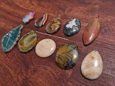 Crystal Pendant Necklace Lot Of 10 Gemstone  Wholesale Group 2 Stone Jewelry