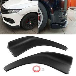 2x Car Front Deflector Spoiler Splitter Diffuser Bumper Canard Lip Body