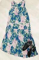EAST Ladies Floral Pleated Skirt Blouse Outfit Skirt Size 12 Top Size 10 Party