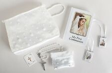 First Communion Beaded Purse with Accessories 6 Piece Set