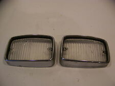 1970 71 72 PLYMOUTH DUSTER VALIANT FRONT PARKING LENSES & TRIM BEZELS OEM
